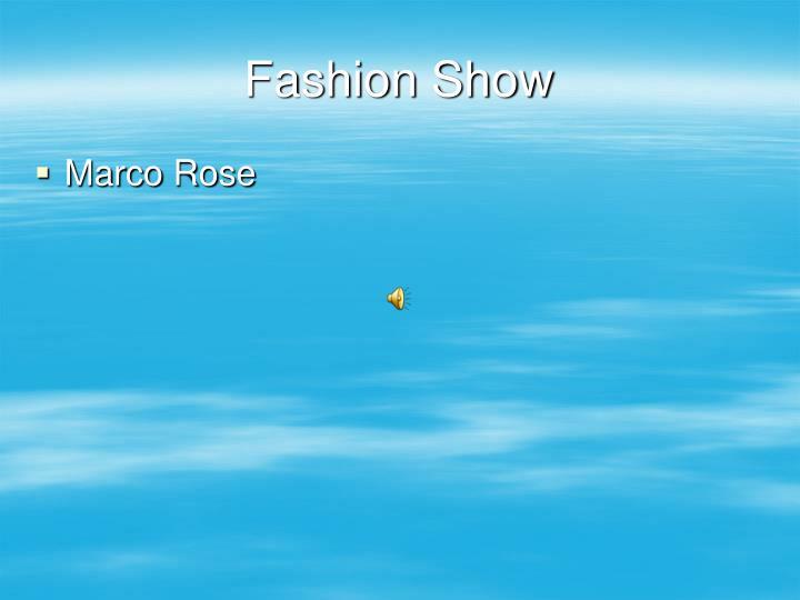 fashion show n.