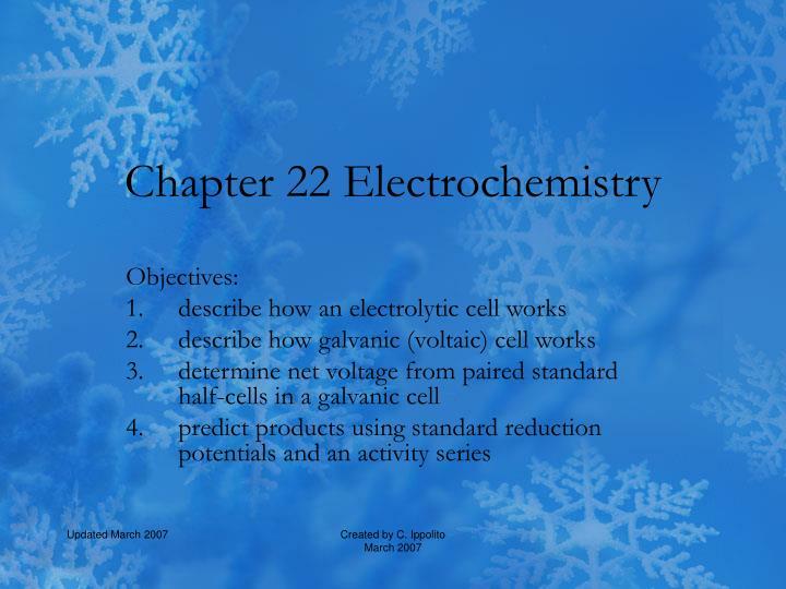 chapter 22 electrochemistry n.