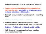 precursor solid state synthesis method