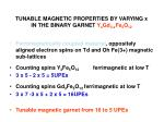 tunable magnetic properties by varying x in the binary garnet y x gd 3 x fe 5 o 121
