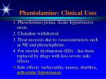 phentolamine clinical uses