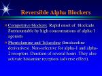 reversible alpha blockers