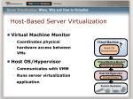 host based server virtualization