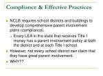 compliance effective practices