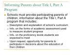 informing parents about title i part a program10