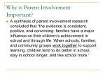 why is parent involvement important