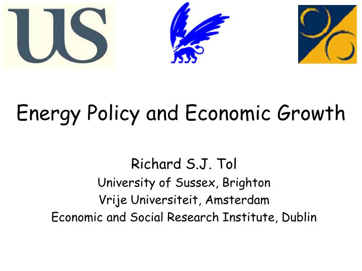 energy policy and economic growth n.