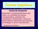 costos log sticos