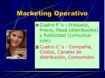 marketing operativo