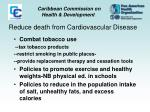 reduce death from cardiovascular disease