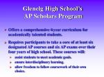glenelg high school s ap scholars program