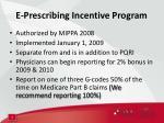e prescribing incentive program