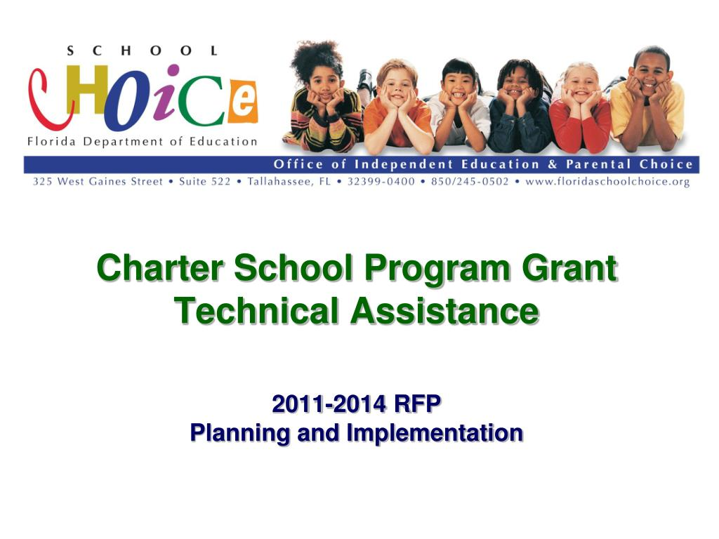 charter school program grant technical assistance 2011 2014 rfp planning and implementation l.
