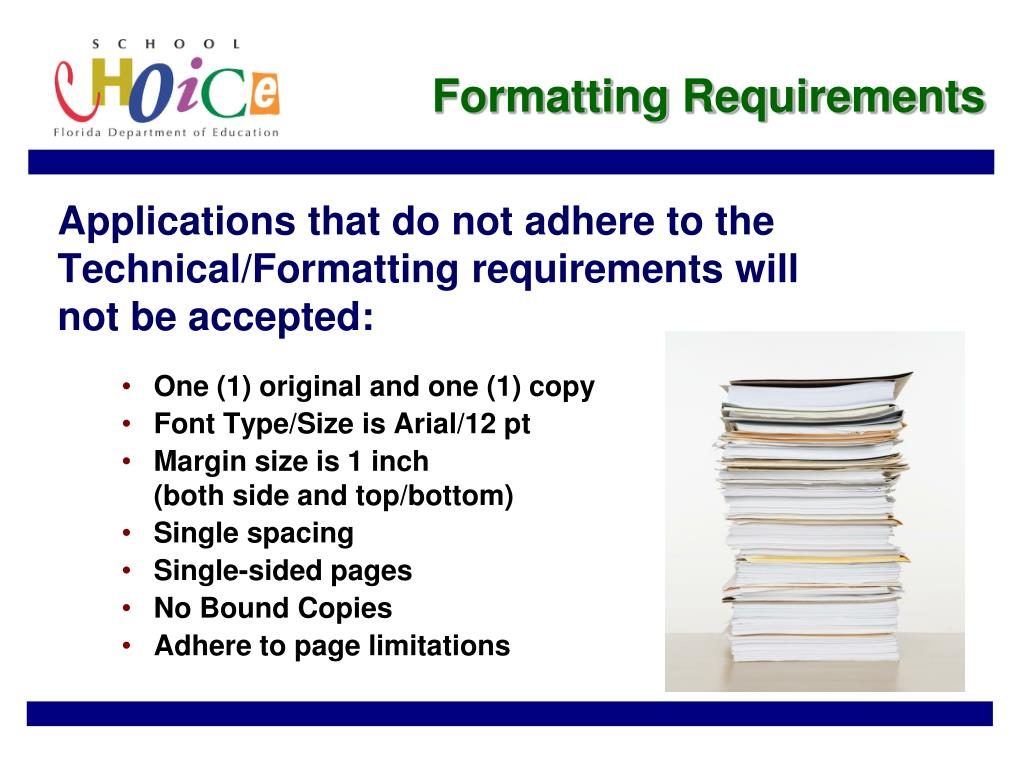Formatting Requirements
