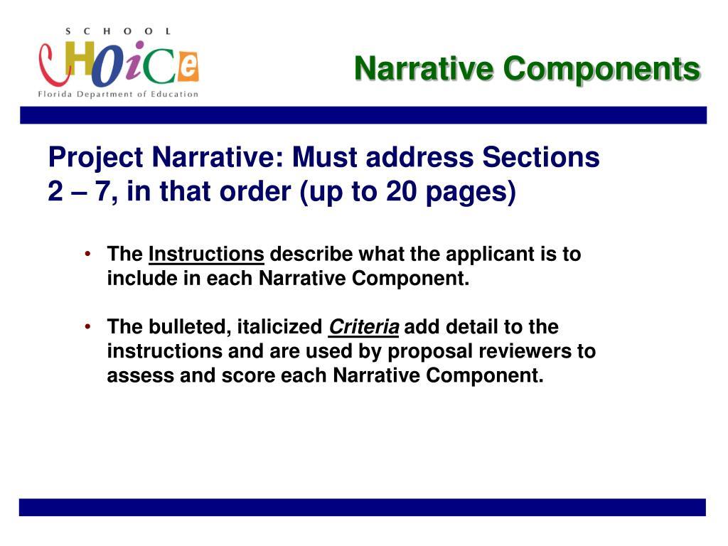 Narrative Components