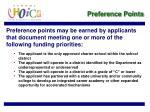 preference points