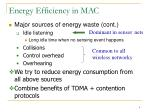 energy efficiency in mac