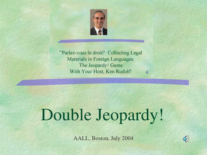 double jeopardy n.