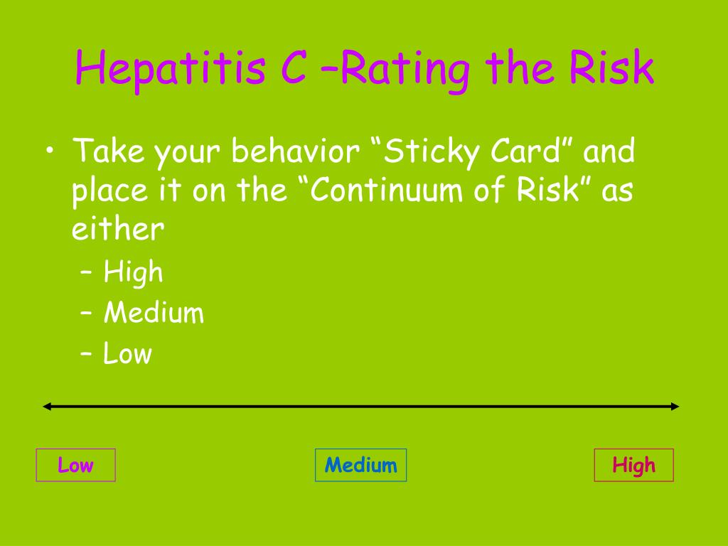 Hepatitis C –Rating the Risk