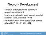 network development
