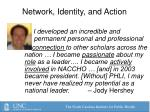 network identity and action