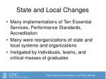 state and local changes