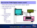 how do the tvm5 digital meters work
