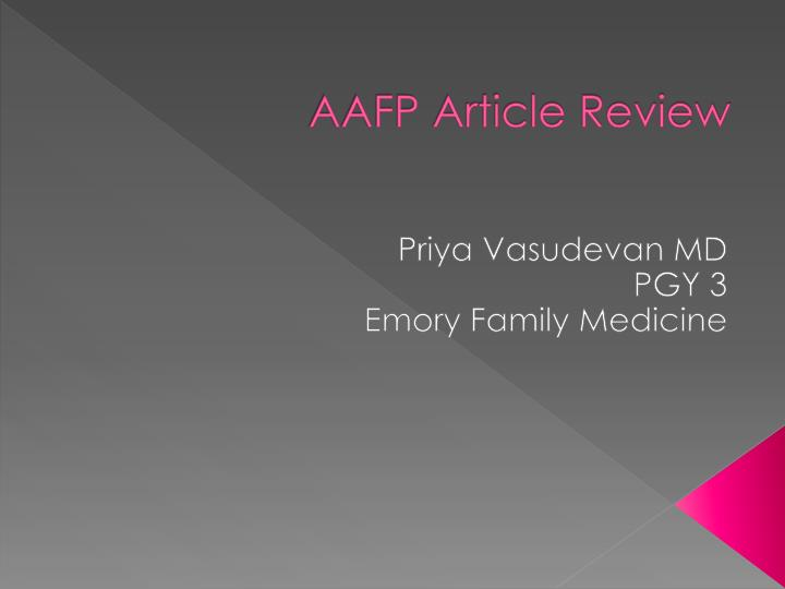 aafp article review n.