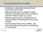 chronic disease dual eligibles