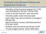 community living assistance services and supports act class act