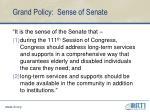 grand policy sense of senate