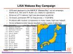 lisa wakasa bay campaign