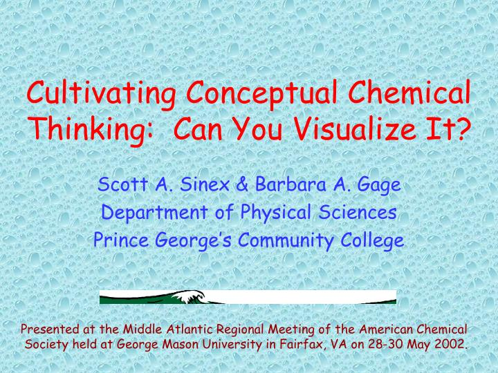 cultivating conceptual chemical thinking can you visualize it n.