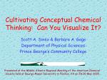 cultivating conceptual chemical thinking can you visualize it