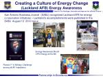 creating a culture of energy change lackland afb energy awareness
