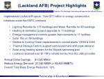 lackland afb project highlights