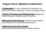 program focus mediators moderators