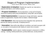 stages of program implementation fixsen naoom blas friedman wallace 2005