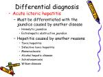 differential diagnosis