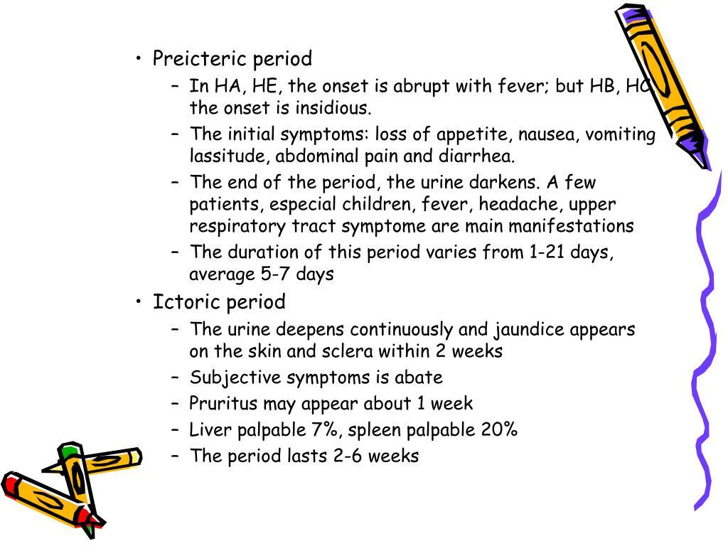 Preicteric period