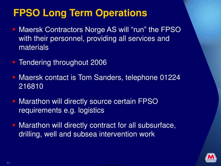 FPSO Long Term Operations