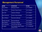 management personnel