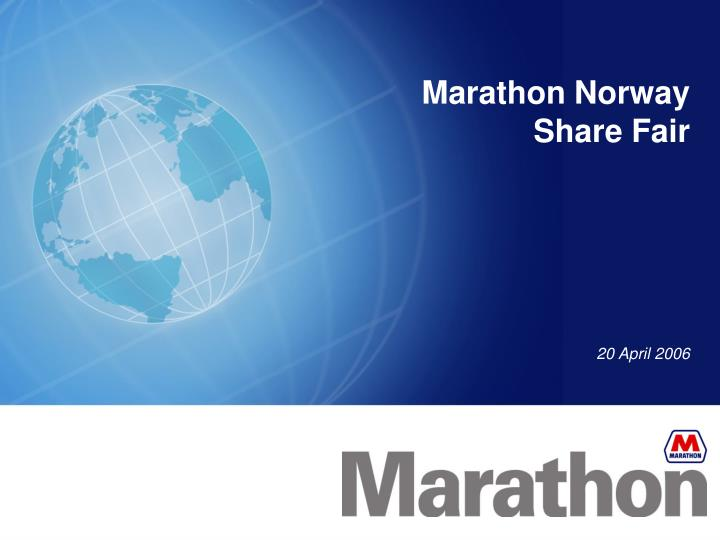 marathon norway share fair n.