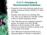 f i t t principles recommended guidelines