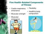 five health related components of fitness