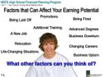 factors that can affect your earning potential