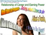 relationship of career and earning power