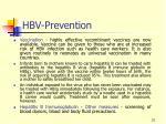 hbv prevention
