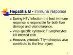 hepatitis b immune response