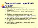 transmission of hepatitis c oldies